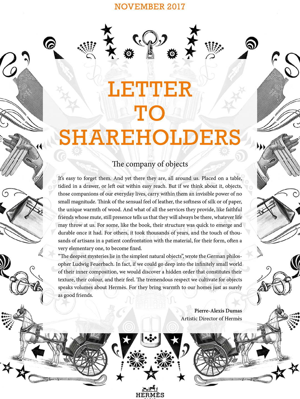 Cover Letter to shareholders - Nov. 2017