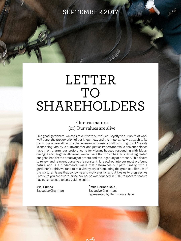 Cover - Lettre to shareholders - Sept. 2017